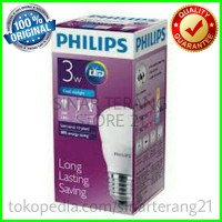 Lampu LED PHILIPS 3W PUTIH/ Cool Daylight Bulb 3 Watt Hemat Energi