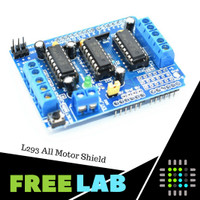 Arduino Motor Stepper Servo Shield L293