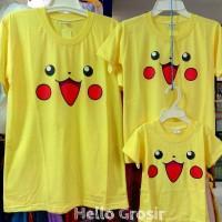 Jual Baju Kaos Kembaran Tshirt Couple Pasangan Pikachu Pokemon Grosir Murah Murah