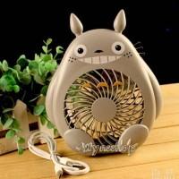 Jual Kipas angin charger mini fan portable karakter Totoro Murah