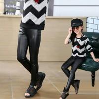 Celana Legging Anak Faux Kulit Kilap Panjang