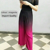 celana panjang kulot gradasi pink quality import