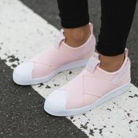 harga Sepatu Adidas Superstar Slip On Pink Tokopedia.com