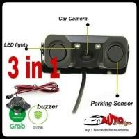 Jual Rear Camera 3 In 1 / Sensor Kamera Parkir / LED Light Mobil Universal Murah