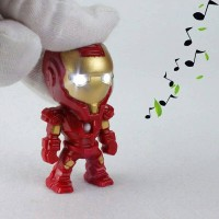 Iron Man Key Chain LED Light & Sound Gantungan kunci Ironman keychain