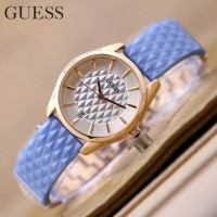Jam Tangan wanita guess Ls1330 Biru list gold