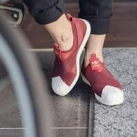 harga Sepatu Adidas Superstar Slip On Maroon Tokopedia.com