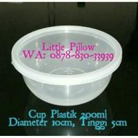Cup Puding 200ml/Cup Bening/Mangkok Bulat/Mangkok Plastik Mini