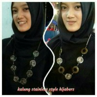 kalung hijabers stainleis style new model
