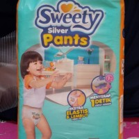 sweety silver pants pampers diaper popok XXL isi 36pcs