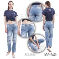 """Celana Boyfriend """"Sobek ga tembus kulit"""" / Ripped Jeans Wanita 710"""