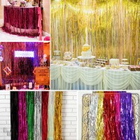 Foil Curtain Tirai Rumbai Backdrop Pesta