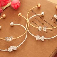 On Sale Gelang Emas Dengan Hiasan Berlian / Gold Bracelet Korea -