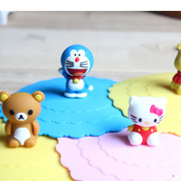 Dijual Tutup Gelas Silikon Motif Hk, Doraemon, Rilakuma, Pooh Khm059