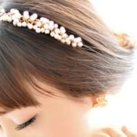 On Sale Pearl Headband / Bando Mutiara Import Korea Cina - Fhr003