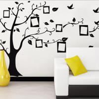 Dijual Wall Paper / Stiker Tembok Pohon Dengan Frame Foto Photo -
