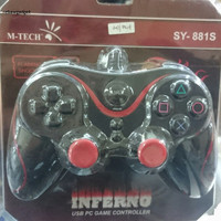 Stik PS/PC - JOYSTICK PC Gamepad/Game Pad single Usb M-tech Inferno