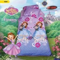 Jual Sprei My Love Single Kids 120 | Princess Sofia Flowers - 120x200 Murah