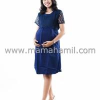 Jual Baju Hamil Dress Menyusui Brokat Pesta Pita Atas - DRO 794 Murah