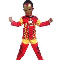 Jual Koleksi terbaru  Baju Anak Kostum Topeng Superhero Iron Man Murah