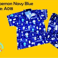 Baju Tidur Anak / Piyama Anak Laki Perempuan Doraemon Navy (S-XXL)