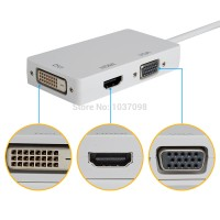 kabel Thunderbolt / MINI DP Display port ke HDMI/DVI/VGA Thunderbolt
