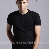 Jual Baju Kaos Polos Henley Pria Lengan Pendek BillPalmer  ( BEST SELLER ) Murah