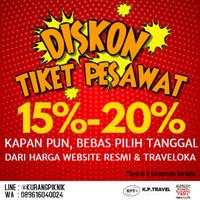 Tiket Pesawat Promo Diskon dari Harga Traveloka & Website Resmi