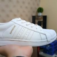 Jual Sepatu Adidas Superstar Putih List Putih Full Putih Pria Wanita Grosir Murah
