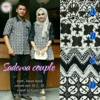 pusat GROSIR baju sadewa couple suami & istri katun batik