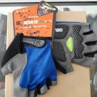 Aksesoris Sepeda  Glove Hosport Gel Biru