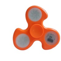 Fidget Spinner dengan lampu 1 LED 3 Motif - Orange