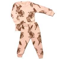 Piyama anak/Baju tidur anak lengan panjang Baby Gap HK Rabbit Brown