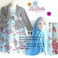 Baju Muslim/Gamis Anak Labella (Usia 7 - 11th) SB102-Syar