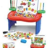 Pusat Mainan Anak - Fold N Go Apple Desk (Meja Belajar Lipat Multifun
