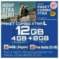 Perdana Internet /Paket Data Internet XL XTRA COMBO 12GB