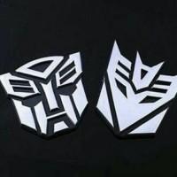 Jual Emblem Transformer Autobot Decepticon Krom Hitam Murah