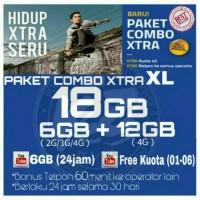 Perdana Internet /Paket Data Internet XL XTRA COMBO 18GB