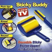 Jual sticky buddy lint roller rol pengangkat bulu debu kotoran.  Murah