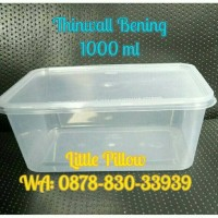 Kotak Makan Bening 1000ml/Lunch Box/Thinwall/Food Container