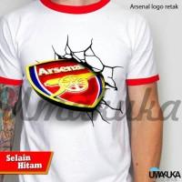 Kaos 3D Umakuka Original Bandung - Arsenal Logo Retak