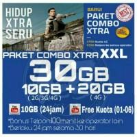 Perdana Internet /Paket Data Internet XL XTRA COMBO 30GB
