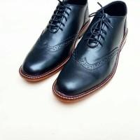 Jual Gallante Sepatu Oxford Wingtip Hitam Kulit Asli Blake Stitch Murah
