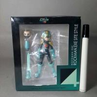 mainan action figure rockman exe. rockman. exe site style statue deta