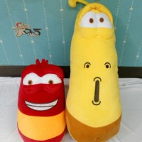 Boneka Larva Merah Kuning Couple Besar
