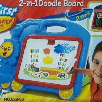 2 in 1 DRAWING DOODLE BOARD Papan Tulis Gambar Spidol Kapur