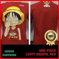 Kaos Distro Baju Murah Anime Film Kartun One Piece Onepiece Logo Merah