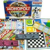 Jual mainan MONOPOLY 5 in 1 ( monopoli, catur, ular tangga, ludo, halma ) Murah