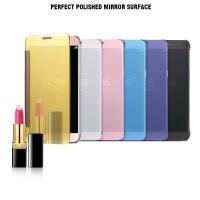 Jual Casing Hp Samsung Galaxy Note 4 Flip Cover Mirror Murah