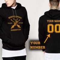 Jaket Sweater Hoodie Zipper Sweater Harry Potter Hufflepuff